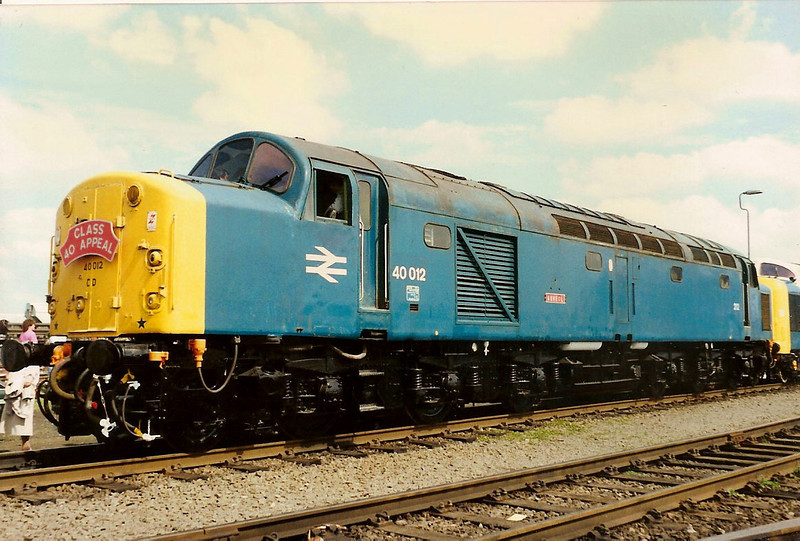 40012 AUROEL on display at Coalvile open day on 11 June 1989.