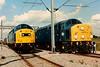 40145 and 212 AUREOL on display at Crewe Railfair on 21 August 1994.