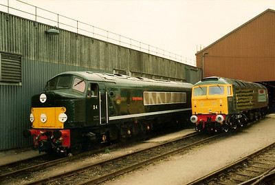 D4 GREAT GABLE on show along with 47500 GREAT WESTERN at Bounds Green open day on 4 May 1987