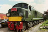 Green machine D100. 45060 SHERWOOD FORESTER stands at Coalville open day on 11 June 1989