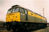 Dutch liveried 47315 rests on Oxford stabling point on 9 March 1990.