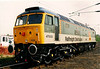 A very smart 47033 The Royal Logistic Corps on display at Crewe Electric Depot open day on 3 May 1997.