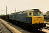 47304 is seen alongside Peterborough station on 20 June 1987 at 1357 on a flyash working. She was scrapped in mid 2000.