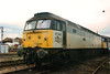 47298 Pegasus attracts little attention at Crewe Railfair on 27 August 1995. The former D1100 was scrapped in 2006.