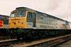 47053 Dollands Moor International at Crewe Railfair on 27 August 1995.