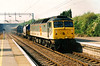 47297 cobra railfreight rattles through MK on 2 May 1997 working the 6A36 1400 Washwood Heath - Wembley.