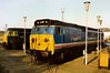 At the time Eastfield allocated 47063 stands behind 50017 Royal Oak around the turntable at Old Oak Common on 10 April 1988.