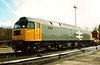 A sparkling 47016 ATLAS stands at Old Oak Common open day on 19 March 1994. Despite her external appearance she was scrapped six years later.