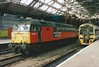 Res 47762 rests between duties at Liverpool Lime Street on 10 April 1999.