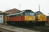 47784 Condover Hall has 37892 Ripple Lane for company on Doncaster Carr TMD on 23 October 1997.