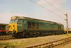 Departmental blue 50019 Ramillies on show at Bescot open day on 6 May 1990.