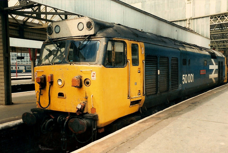 My favourite 50, 50001 Dreadnought stabled at Waterloo on 25 May 1987.