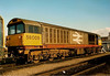 58009 basks in the sun having a weekend break stabled at Coalville. 58009 currently works for TSO based at Villersexel in France.