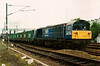 58021 Hither Green Depot stands just north of Bedford station atop the 6A62 1836 Cricklewood - Forders 'bins' on 8 May 1997.