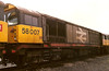 58007 stabled for the weekend at Toton on 30 May 1988.