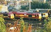 60048 EASTERN takes centre stage on shed at Knottingley on 10 September 1997.