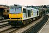 60093 Jack Stirk heads an eastbound freight through Newport on 25 June 1993.