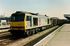 60063 James Murray in Transrail colours passes West through Cardiff Central on 5 May 1995.