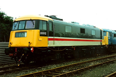 Preserved 83012 on display at Worcester open day on 22 May 1994.
