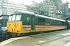 86208 City of Chester stands at Edinburgh on 21 November 1998 having worked a charter along the WCML from Euston.