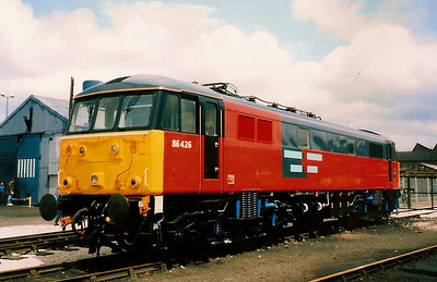 Ex works 86426 on show at Doncaster open day on 12 July 1992.