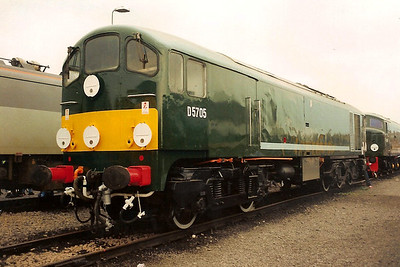 D5705, the sole survivor of class 28 seen at Coalville open day on 26 May 1991.