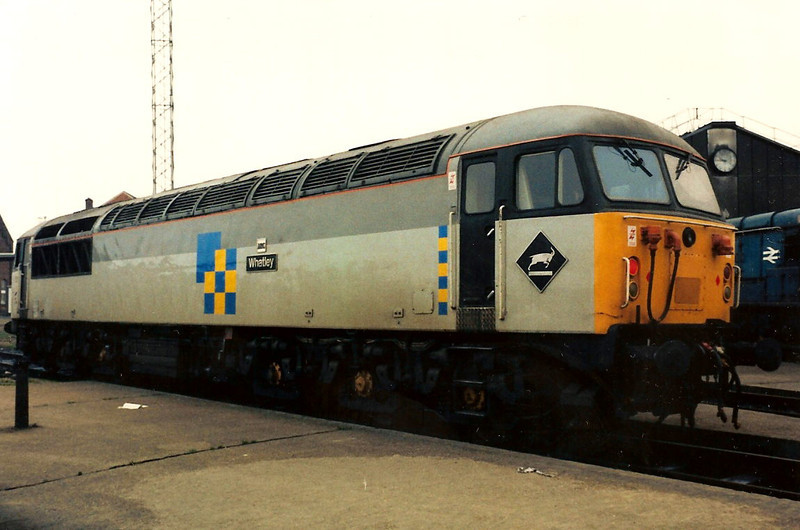 First built, 56001 Whatley complete with ARC plaque, reposes on Old Oak Common TMD on 12 December 1987.