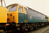 56011 in original BR blue stabled at Worksop on 7 June 1987.