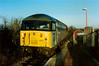 56007 passes through Islip working 6M43 1408 Bicester Army Depot - Lawley St on 4 December 1993.