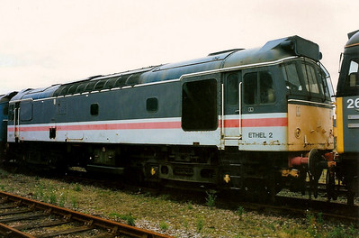 97251 ETHEL 2 ex 25305 is seen laid up at Inverness Milburn Yard on 4 September 1993.