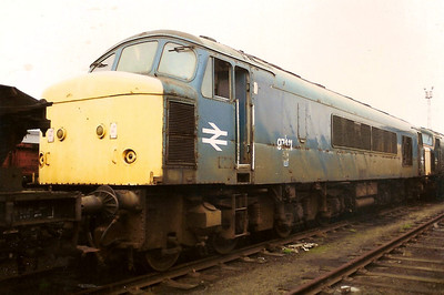 97411, the former 45034 is seen spending Christmas in Tinsley yard on 28 December 1989.