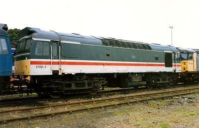 Looking resonably smart, 97252's train heating days are all over as withdrawal came in November 1993. She is seen here at Inverness Milburn Yard on 4 September 1993.