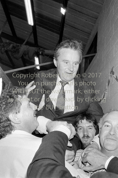 Godfrey Timmins with supporters after his election.  Date unknown