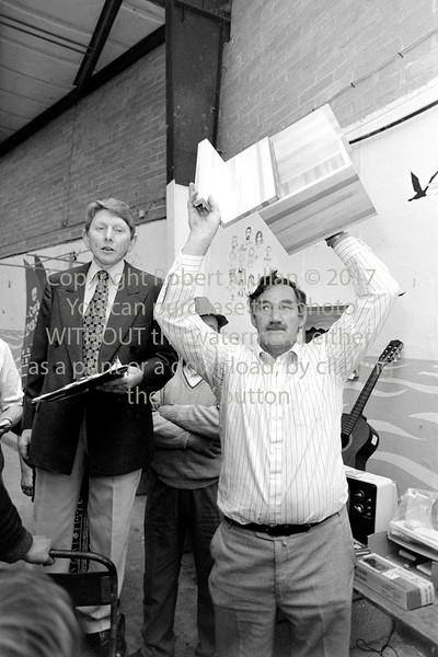 Leslie Bradshaw conducting a charity auction in Wicklow - 1980s/90s