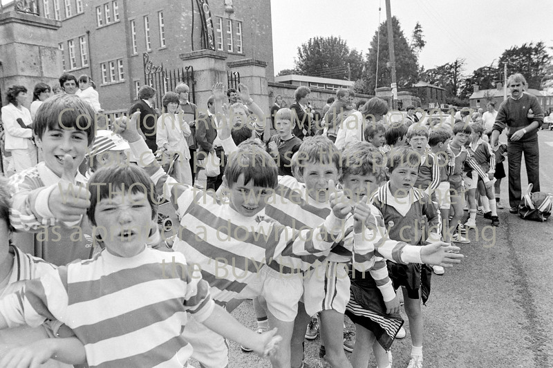 Taking part in the annual St Patrick's Day Parade in Wicklow - 1980s/90s