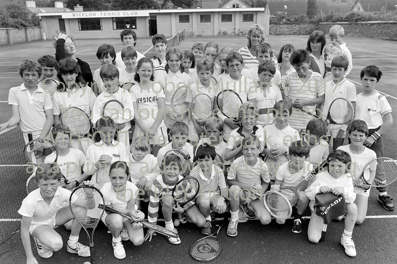 Youngsters at Wicklow Tennis Club - 1980s/90s