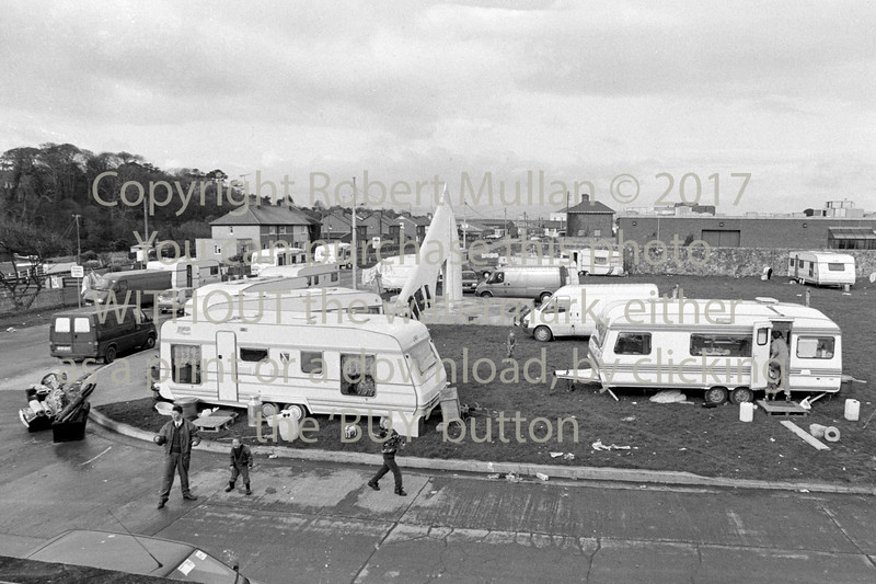 Caravans at the Murrough.  Circa 1993