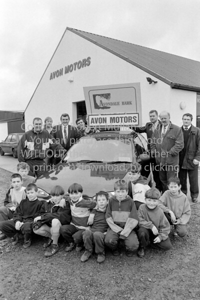 Group at Avon Motors, Rathdrum.  Circa 1993