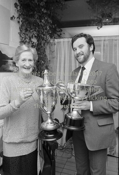 Maureen Gilletlie and Clyde Wynne at Wicklow Tennis Club's Dinner - 1980s/90s