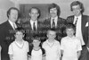 A group pictured at the official opening of the new clubhouse for Wicklow Tennis Club - 1980s/90s