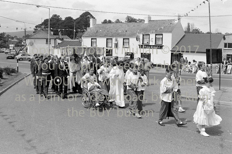 The Corpus Christi  procession in Rathnew - early 1990s