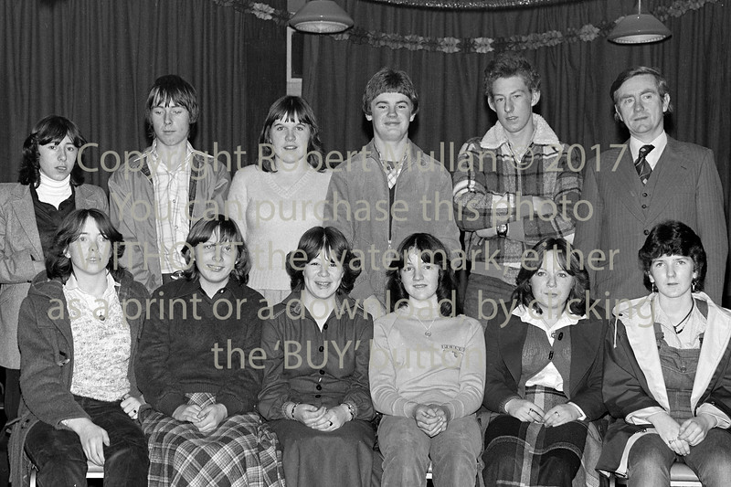 Prizewinners at Abbey Community College.  Early 1980s