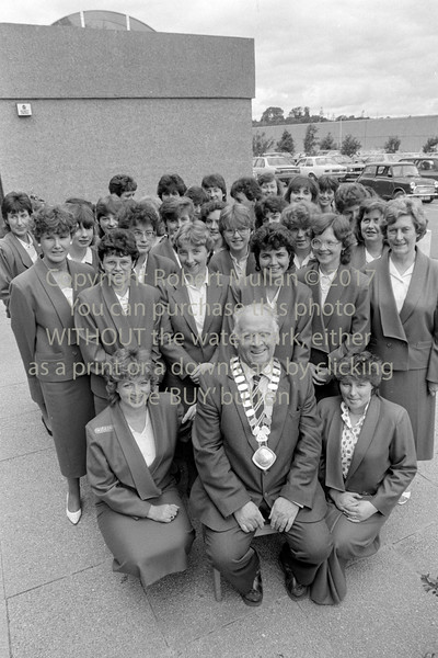 Cllr Tom Keenan with staff of Wicklow County Council - 1980s/90s