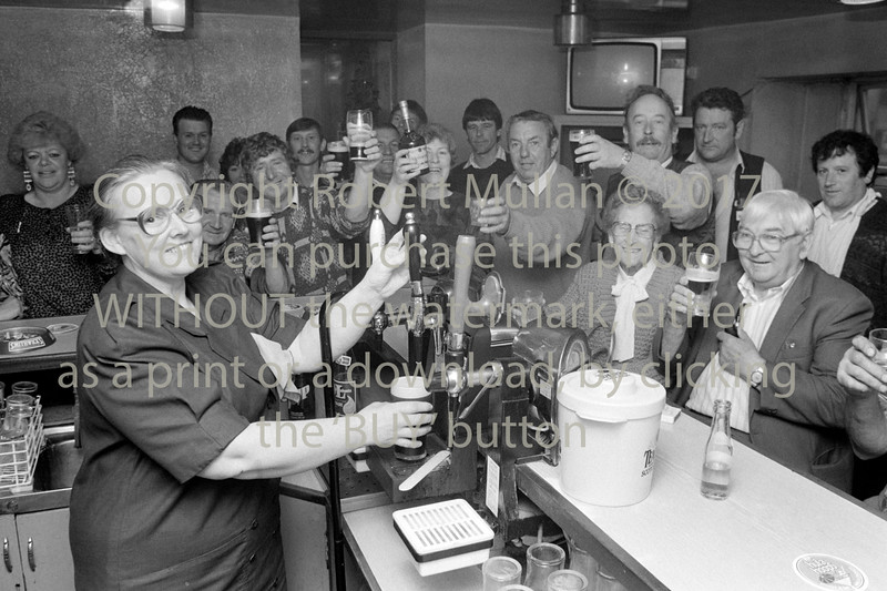 Mary Dowling in her pub in Rathnew