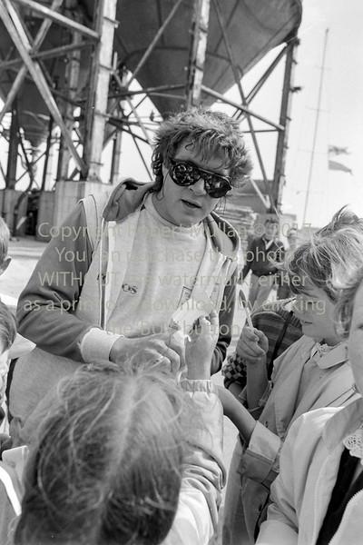 Simon le Bon singin autographs is Wicklow - 1980s/90s