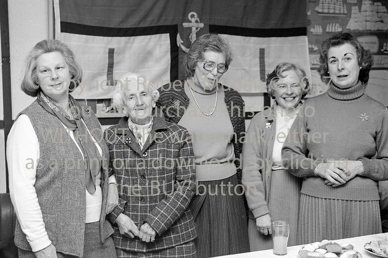 Wicklow RNLI ladies.  Circa 1981