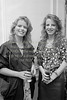 Sisters Eve and Helen Hughes - circa mid 1980s