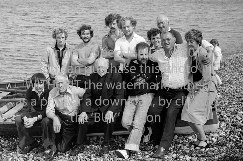 Cannon Crinnion with members of Wicklow Rowing Club.  Circa 1979