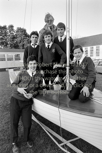 Pat Murphy with students from Abbey Community College, Wicklow - date unknown