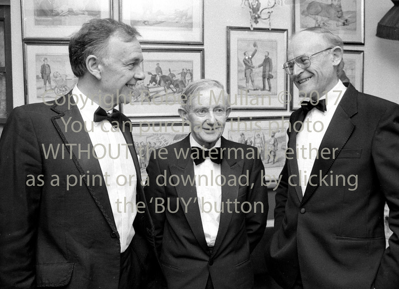 Billy Fallon and Judge Frank Roe at Wicklow Law Soc's Dinner in the Vale View Hotel - mid 1980s